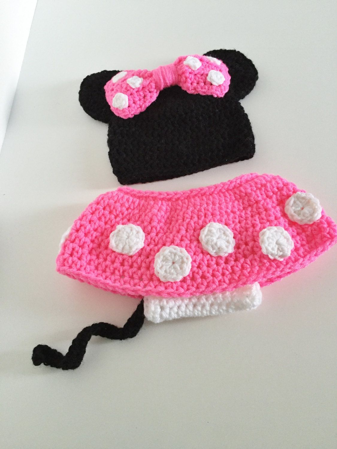 Minnie mouse inspired set, Baby girl costume, Baby girl hat, Minnie ...