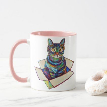 Cat In A Box Mug   Fancy Gifts Cool Gift Ideas Unique Special Diy Customize