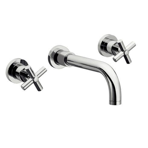 Sorrento Wall Mount Sink Faucet Wall Mounted Sink Wall Mount Faucet Bathroom Contemporary Bathroom Sink Faucets
