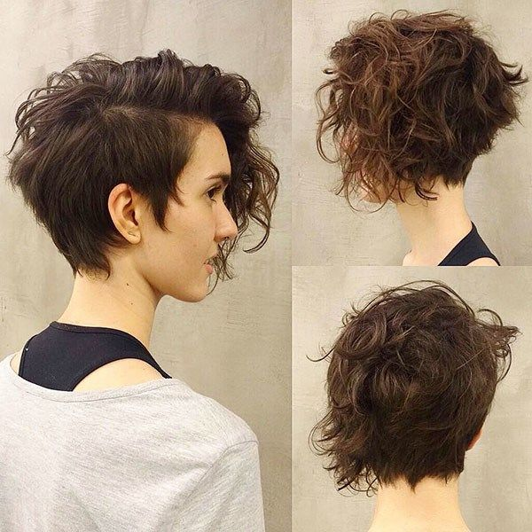 Short Haircut For Thick Curly Hair Best Short Curly Hair Ideas In 2019 Curly Hair Styles Naturally Short Curly Hair Pixie Haircut