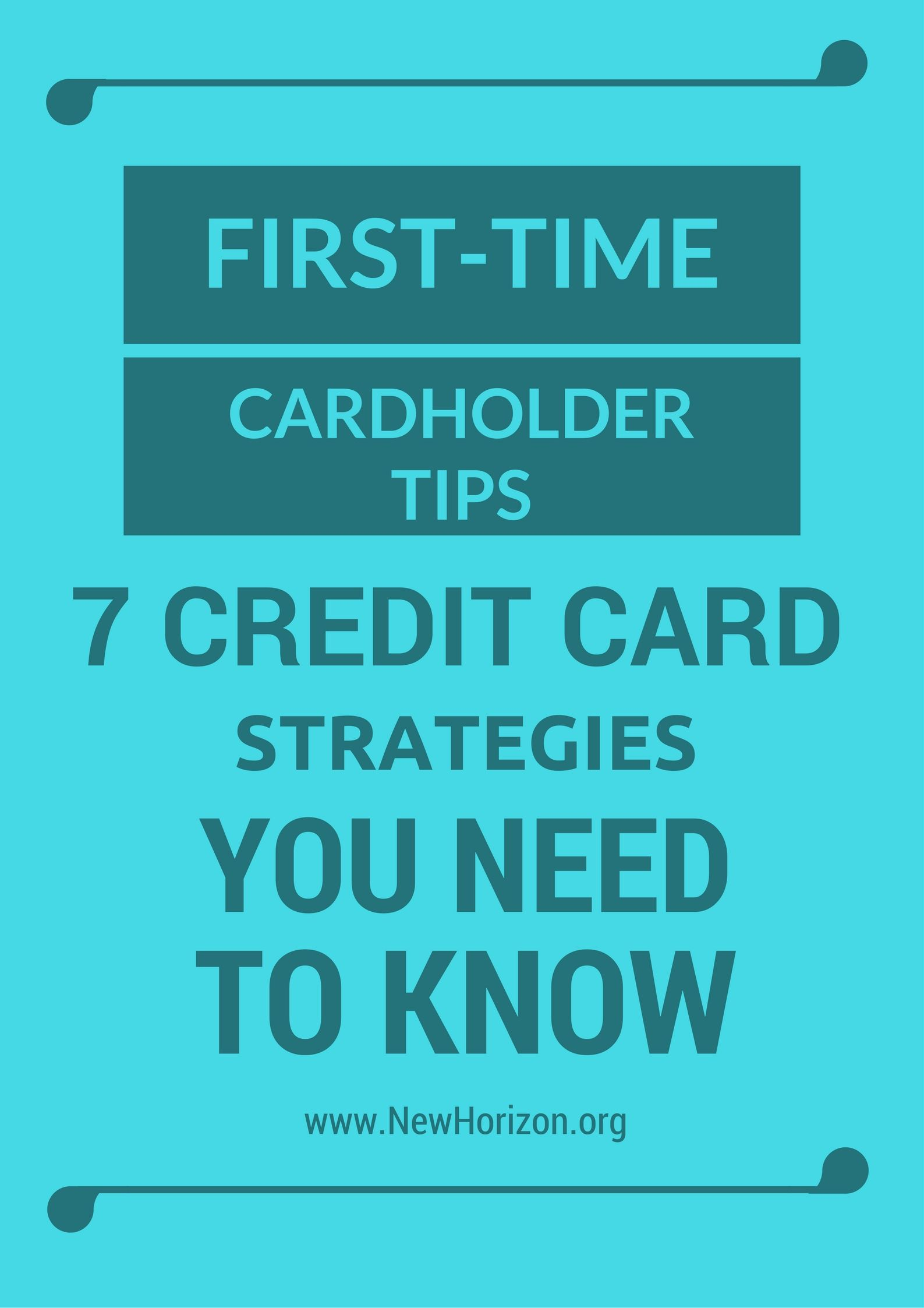 first-time cardholder tips
