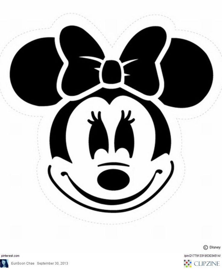 Printable Disney Pumpkin Carving Patterns   Minnie Mouse Pumpkin ...