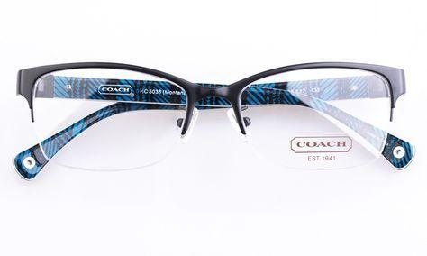 4855f86fcaeb Coach HC5038 Acetate Womens Cat eye Semi-rimless Optical Glasses for  Fashion,Party Bifocals (Black)