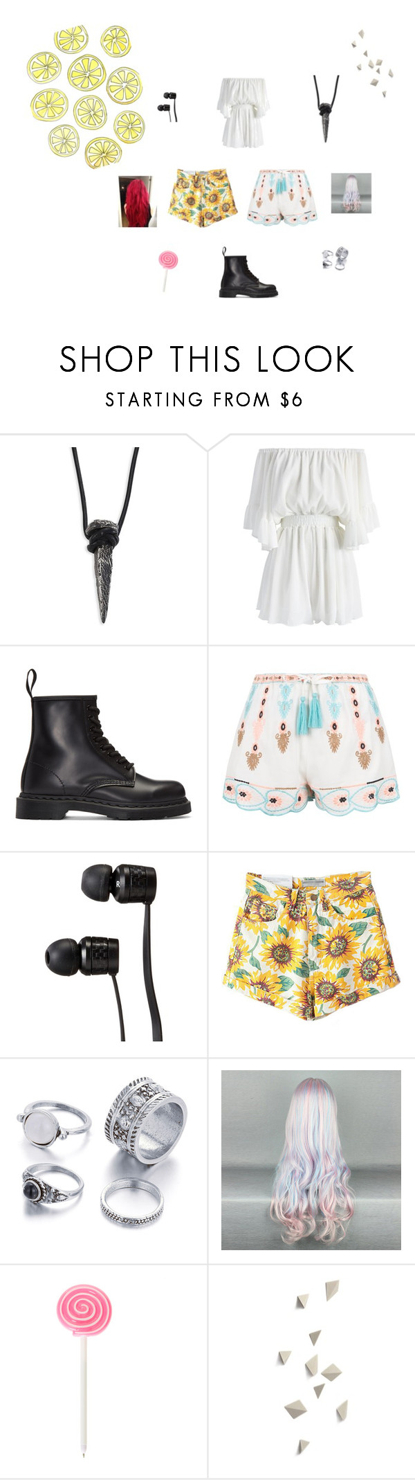 """Untitled #3"" by sarahjavorova on Polyvore featuring King Baby Studio, Chicwish, Dr. Martens, New Look and Vans"