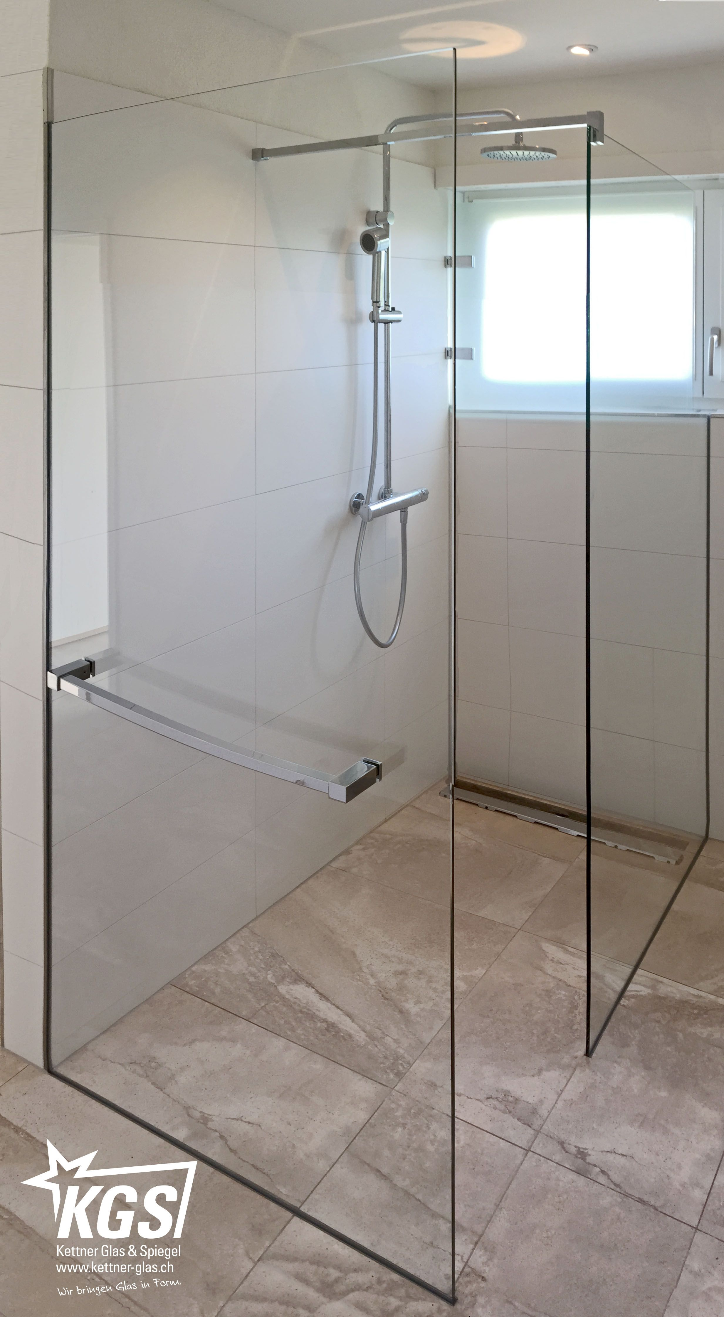 Walkin Dusche Mit Handtuchhalter Von Ihrer Glaserei Eine Walk