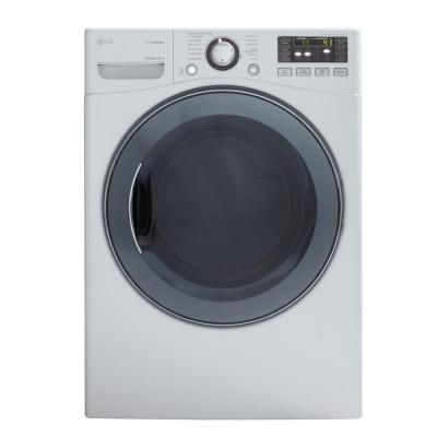 Lg Electronics 7 4 Cu Ft Electric Dryer With Steam In White Dlex3570w The Home Depot With Images Electric Dryers Home Depot Coupons Home Depot