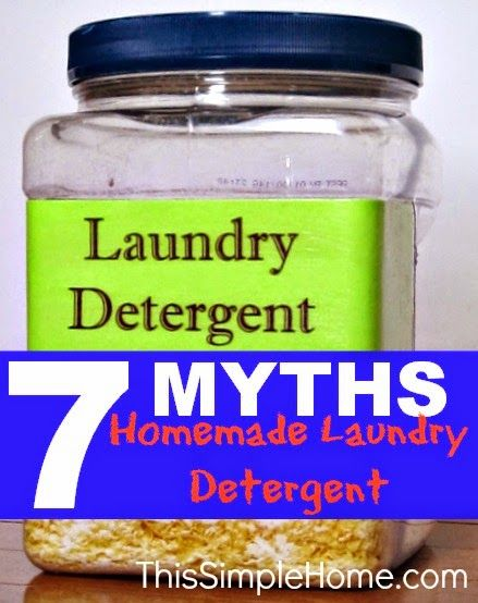 Homemade Laundry Detergent Myths #cleaning, #laundry