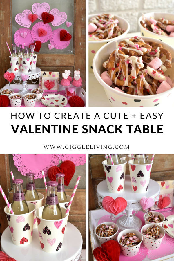 An Easy Valentine Snack Table Is A Fun Way To Melt Hearts Valentines Snacks Easy Valentines Snacks Valentines Party Decor