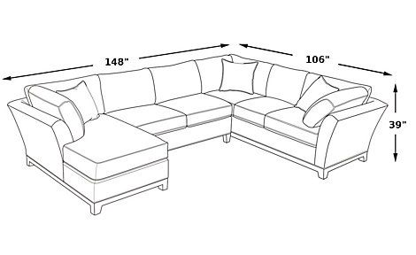 cindy crawford metropolis cardinal 3pc sectional sofa With cindy crawford sectional sofa dimensions