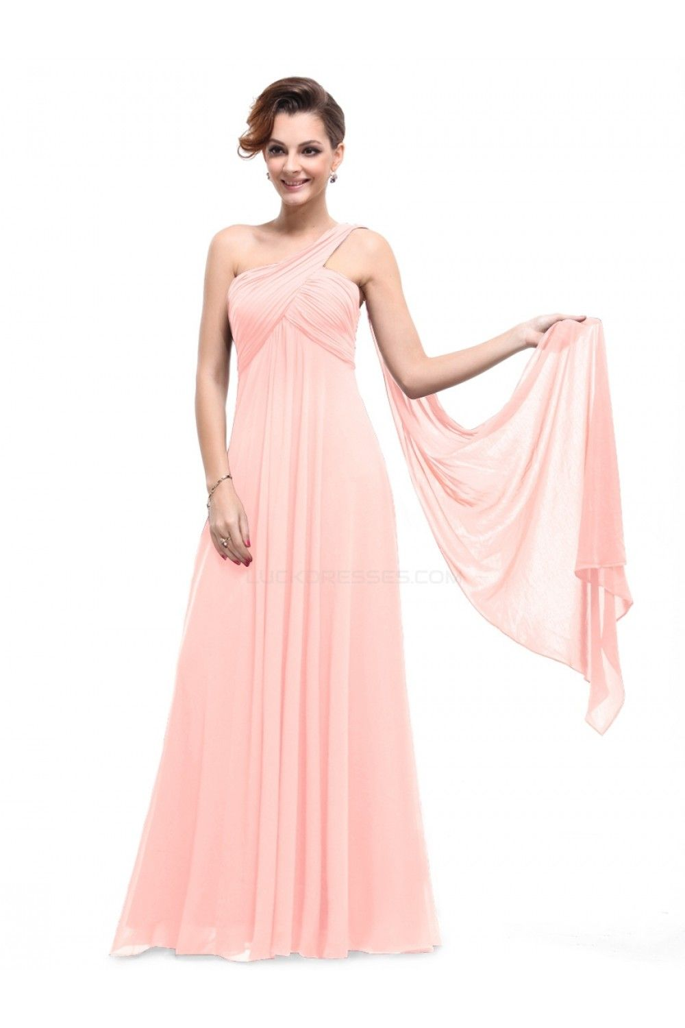 Empire one shoulder long pink chiffon bridesmaid dressesevening empire one shoulder long pink chiffon bridesmaid dressesevening dressesmaternity dresses bd010294 ombrellifo Choice Image
