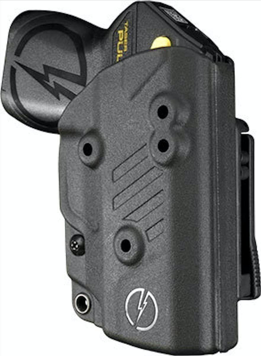 Bladetech kydexthewaistband holster for taser pulse and