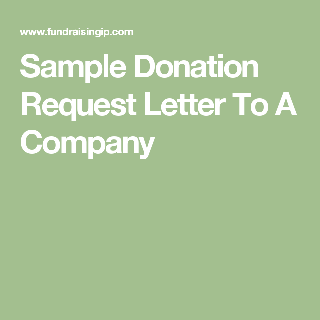 Sample Donation Request Letter To A Company  TeacherS Bathrooms