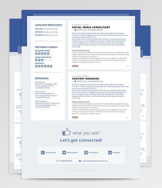 Microsoft Word Resume Templates Adobe Photoshop Resume Templates - illustrator resume templates