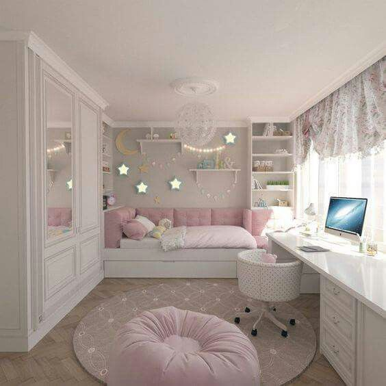 Bedroom Teenage Small Girls Room Purple Large Size: Room Decor, Bedroom, Girl Room