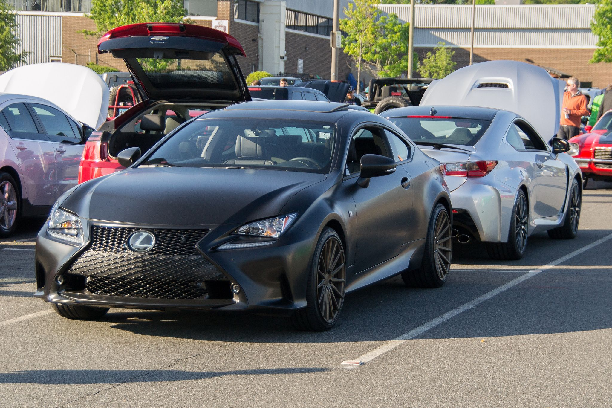 Satin Black Wrapped LexusRC 350 FSport and Silver