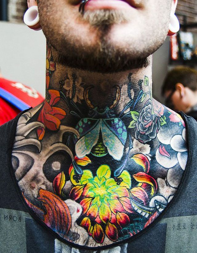 Neck Tattoos Designs For Men Throat Tattoo Neck Tattoo For Guys Best Neck Tattoos