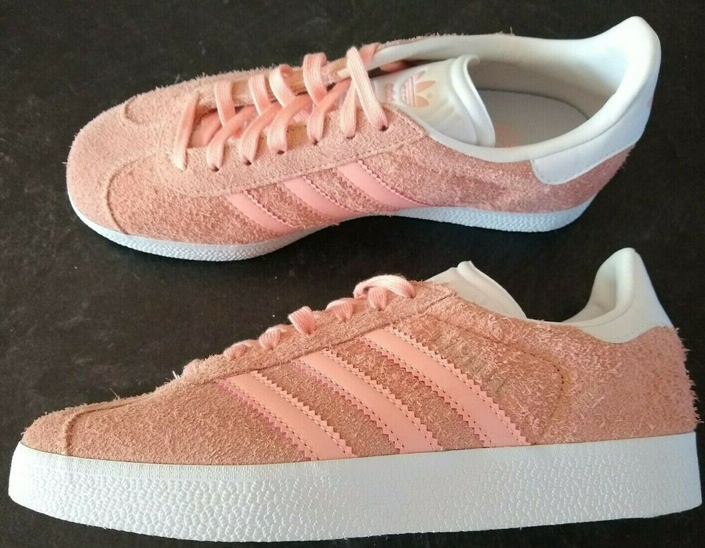 NEW Adidas Originals Gazelle pink sneakers ladies size 5.5 #adidas ...