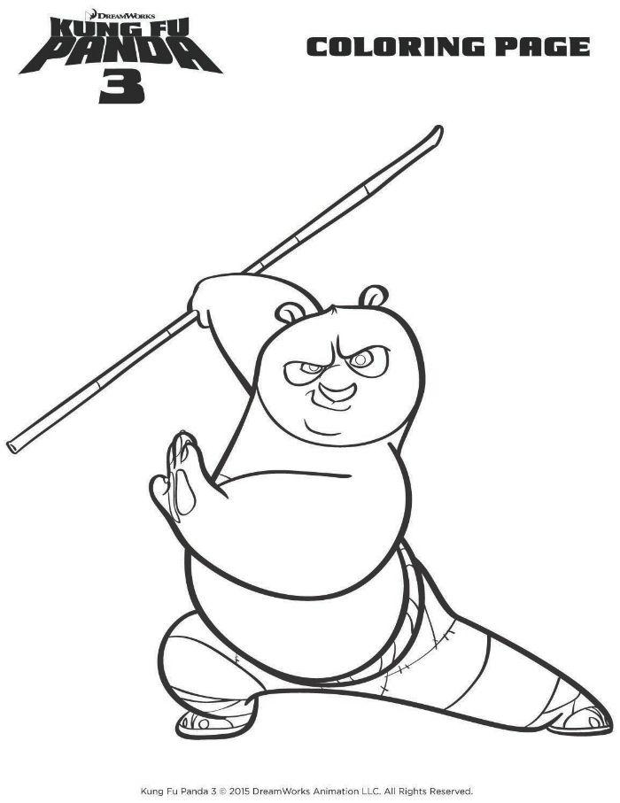 Kung Fu Panda Po Coloring Page | Fox Home Entertainment Insider ...