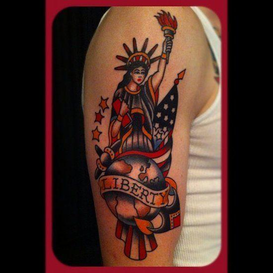 30 Ultimate Statue Of Liberty Tattoos Ideas-- statue of liberty tattoo (11)