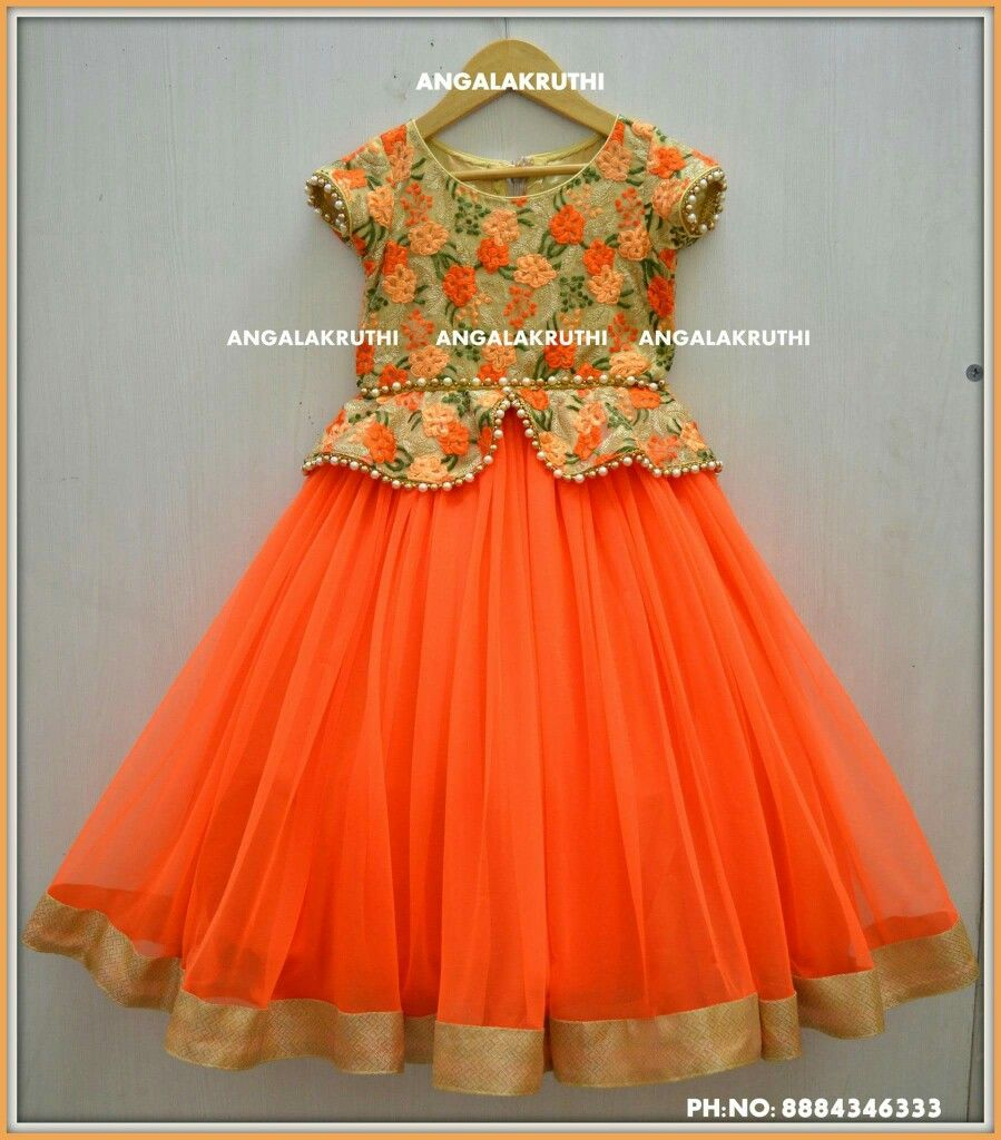 Kids frock designs by angalakruthi boutique bangalore Baby clothing designers