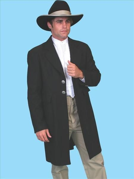 53faeb90745b2 100% Wool Old West Frock Coat WORN IN THE MOVIE TOMBSTONE Worn By Cowboys  Of The Old West - Curly - Wedding Suit