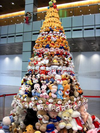 how to recycle recycled christmas trees - Bear Christmas Tree