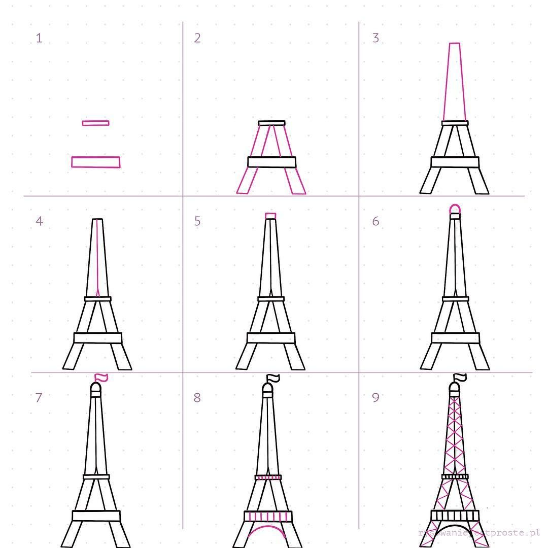 Eiffel Tower Doodles Step By Step Doodles Of Eiffel Tower How To Draw Eiffel Tower Doodles F Eiffel Tower Drawing Brush Lettering Quotes Eiffel Tower Art