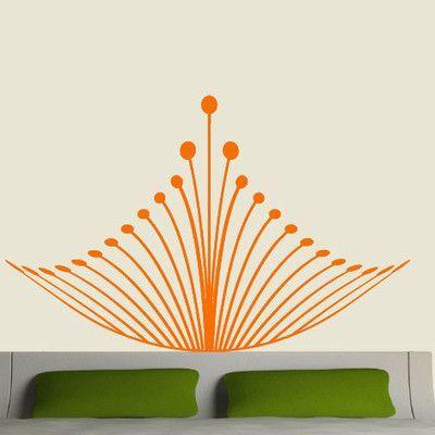 EyvalDecal Crown Headboard Vinyl Wall Decal Color: Orange