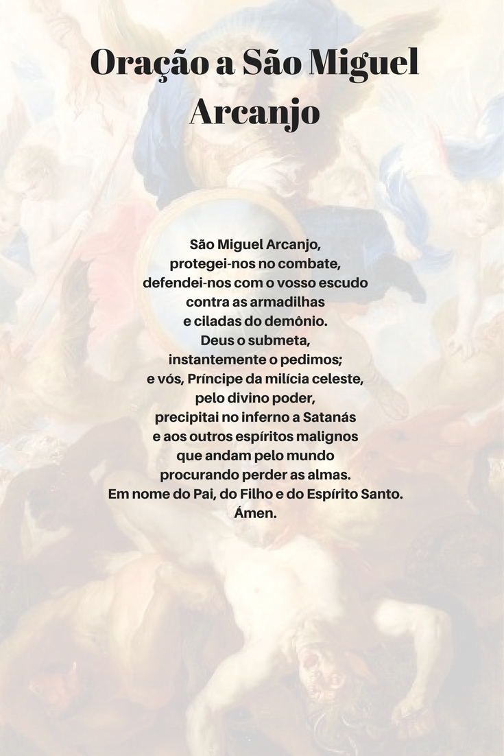 Famosos Oração a São Miguel Arcanjo | frases | Pinterest | Arcanjos  SS52