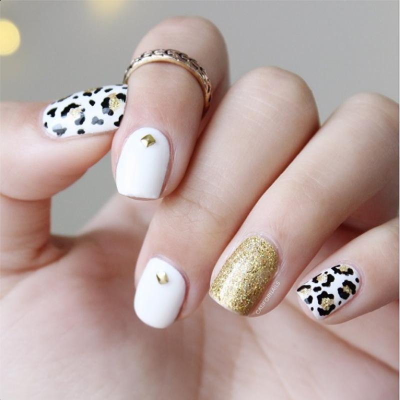 Nail Art Gold Studs - kitharingtonweb