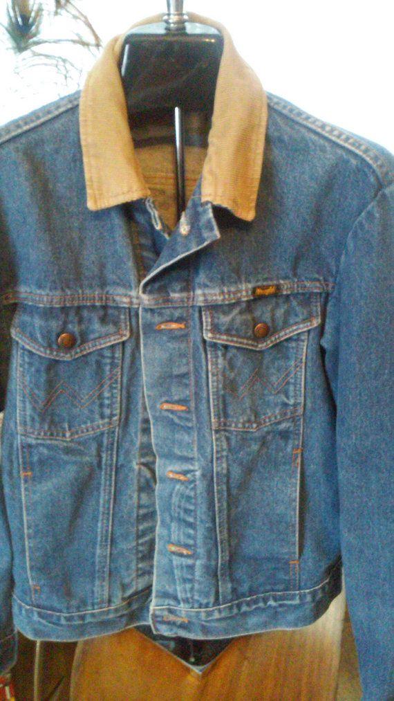 Vintage Wrangler Denim Jacket Wrangler Denim By Thesoupison Denim Jacket Vintage Wrangler Denim