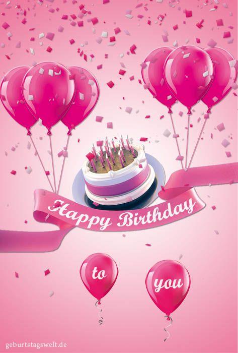 Geburtstagskarten kostenlose vorlagen zum ausdrucken und versenden everything pink happy - Geburtstagskarten kostenlos versenden ...