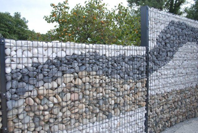 mur en gabion sez l 39 int grer dans votre propre jardin d co jardin pinterest mur en. Black Bedroom Furniture Sets. Home Design Ideas