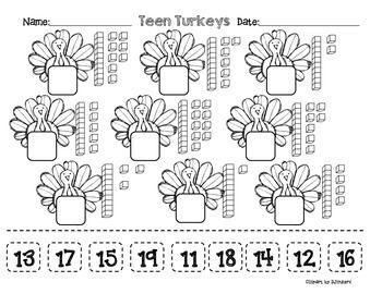Teen Turkeys FREEBIE