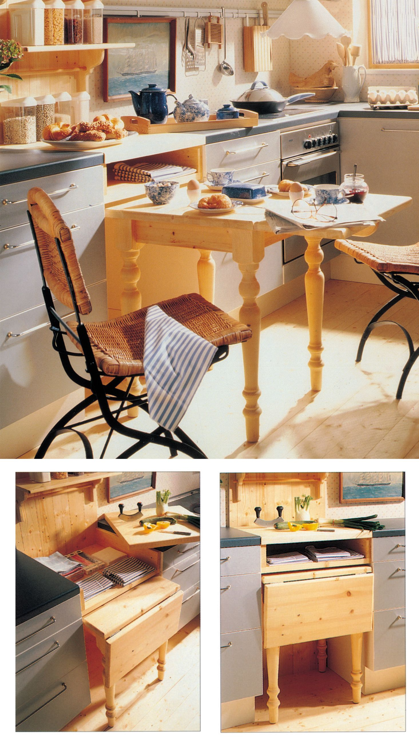 Come costruire un tavolo estraibile a scomparsa per la ...