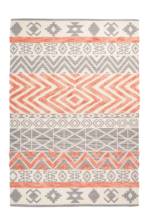 Teppich Ethnie 100 Grau Apricot In 2020 Ethno Teppich Teppich Ethno Muster