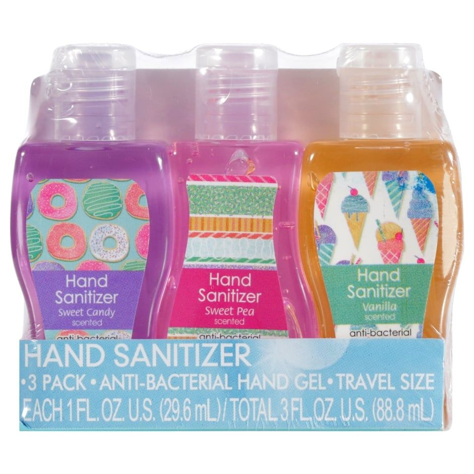 Travel Size Scented Hand Sanitizer 3 Ct Packs Hand Sanitizer