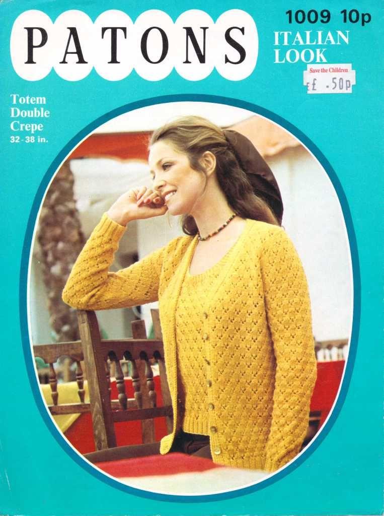 Patons 1009 ladies jumper free knitting pattern | Vintage - Knit ...
