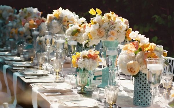 French Shabby Chic Style Part 2 Table Decoration Wedding Centerpieces Tables And Vintage Weddings