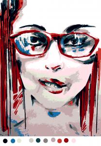 Портрет (11цв.) | Портрет, Рисунки, Картины