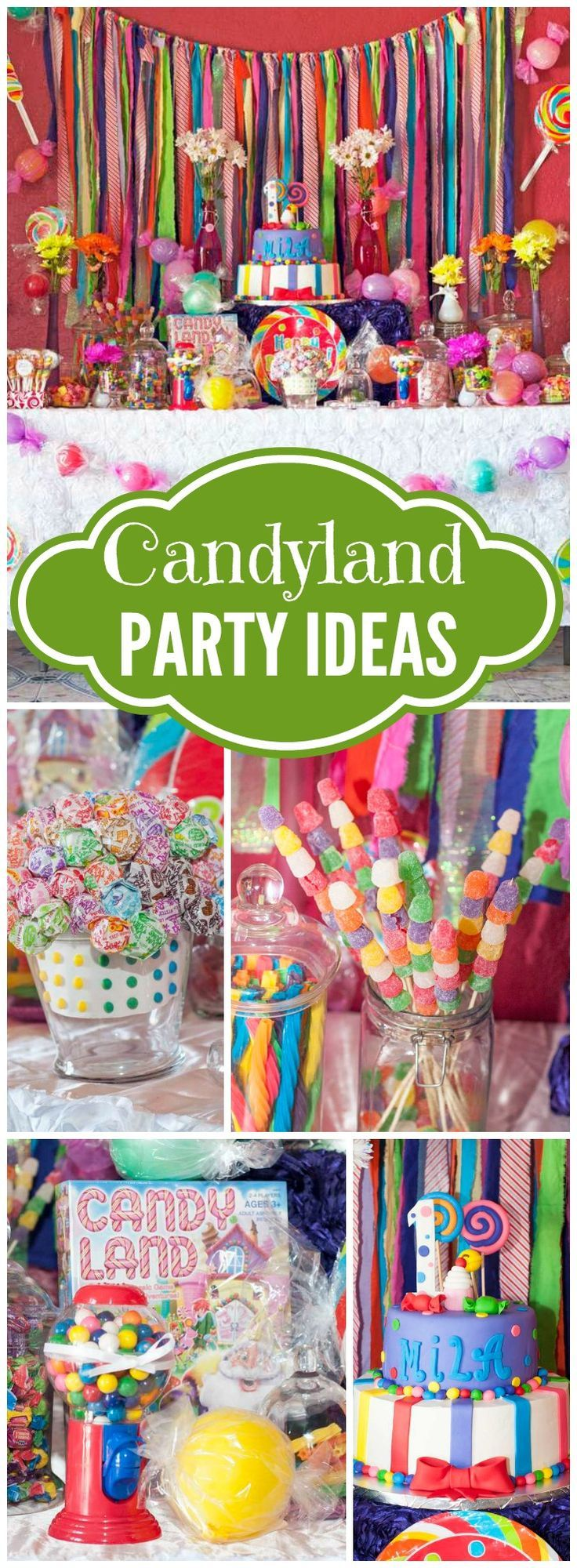 Candyland Birthday Mila S 1st Candyland In 2019 Party Ideas
