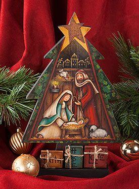 Nativity Tree By Maxine Thomas From Nativity Tree Pattern