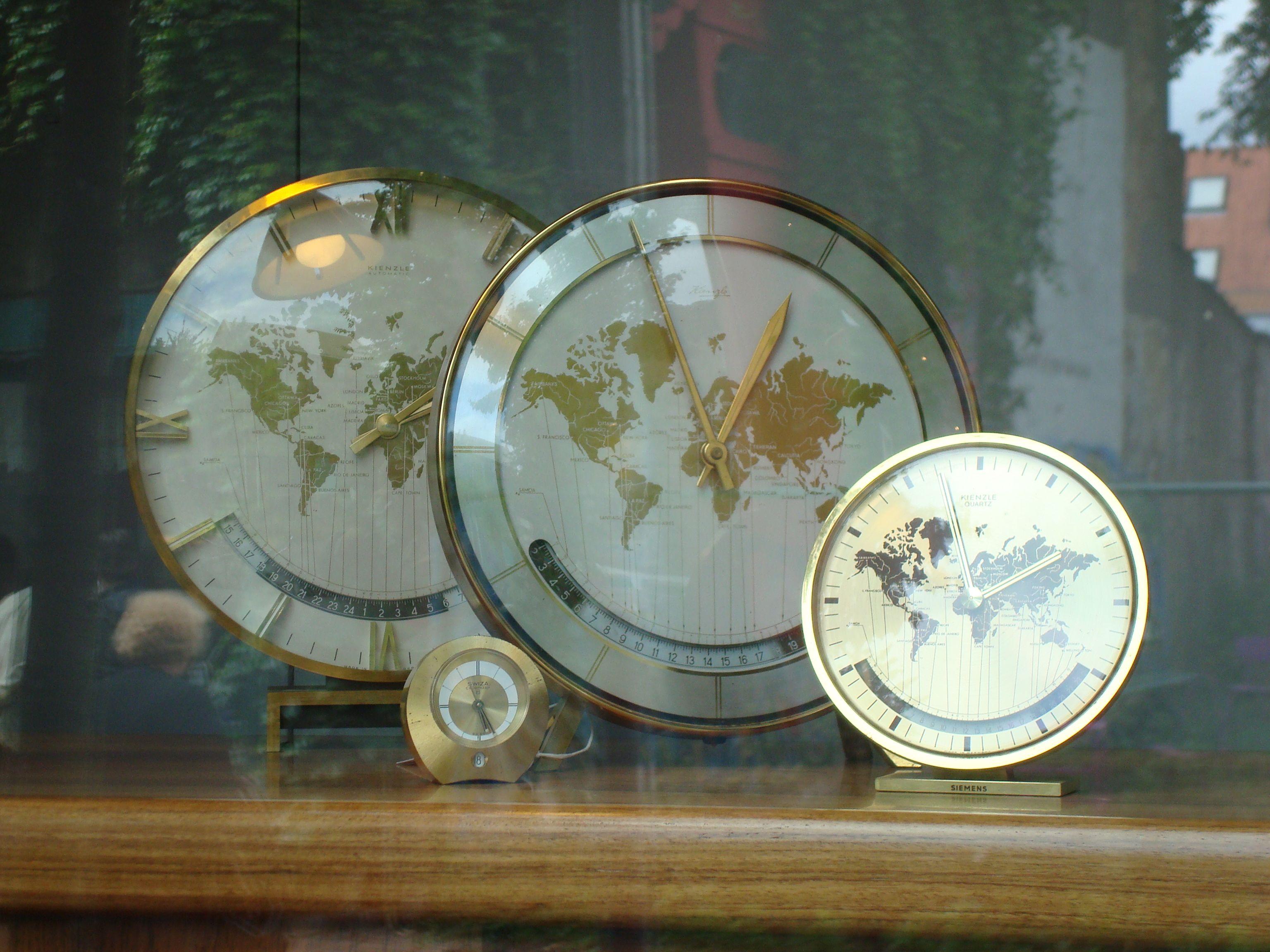 Vintage clock world map time please pinterest vintage clock world map gumiabroncs Image collections