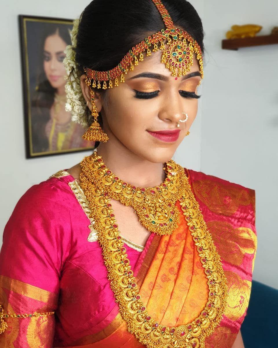 south indian bridal makeup## model @swetha_prathi makeup n
