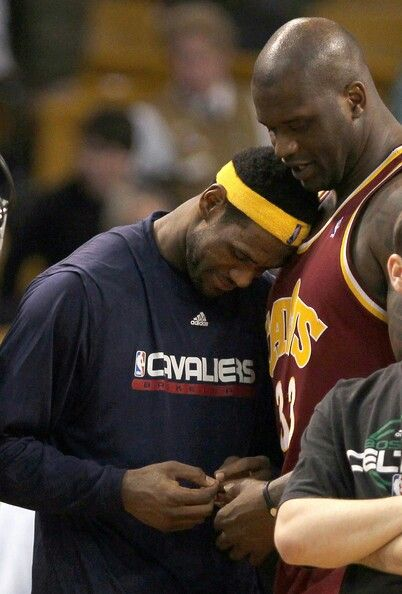 Lebron James and Shaquille O'Neal as Cleveland teammates.