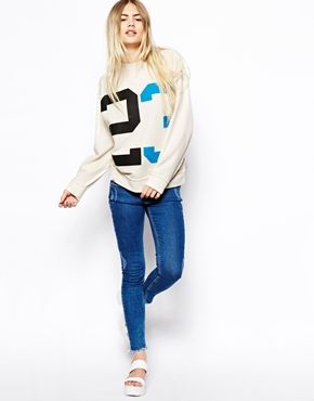 Image 4 of ASOS Super Soft Sweatshirt with Vintage 23 Print