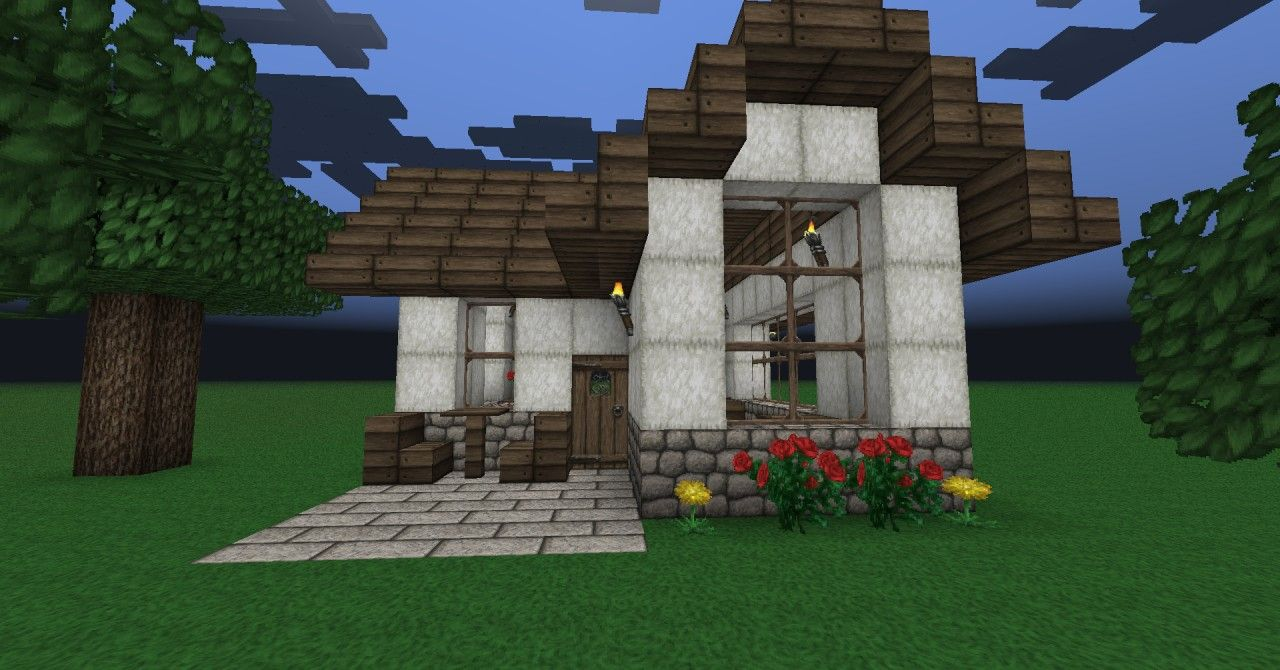 The Minecraft Small Cute House Project Was Contributed By Monitard