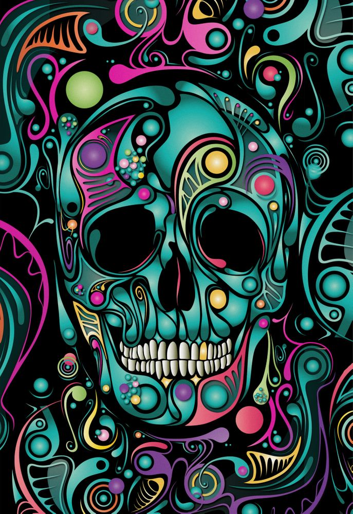 Skull Camouflage Art Print by cerenaksungur