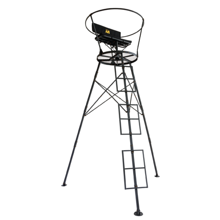 Muddy Outdoors 12 4 Two Man Hunting Tripod Tree Stand Walmart Com In 2020 Deer Stand Archery Hunting Deer Hunting