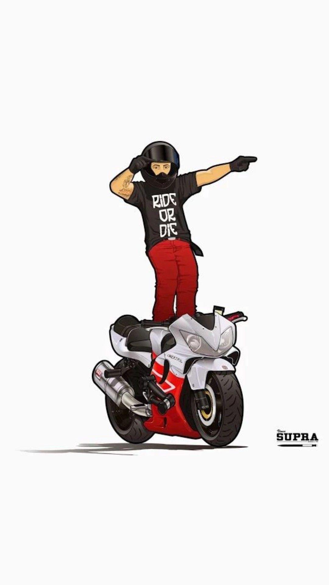 Pin By Mr Vishal On Bikelover Vintage Motorcycle Art Cartoon